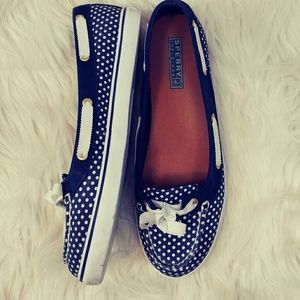 SPERRY TOP SIDER POLKA DOT SIZE 7.5